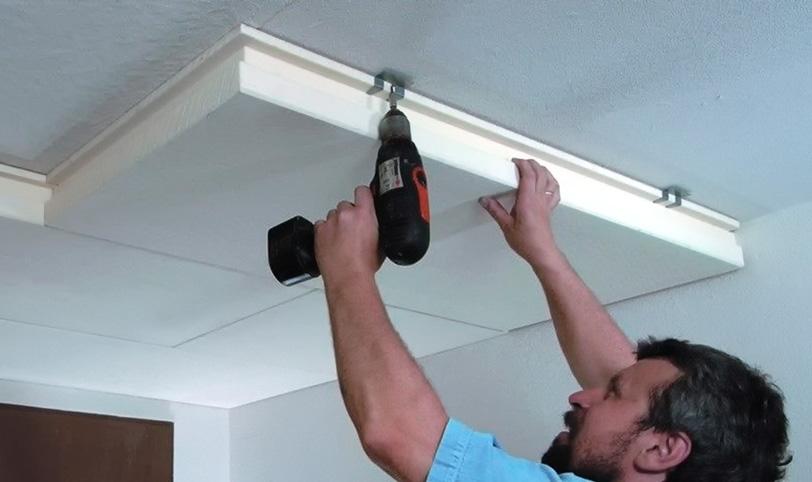 бескаркасная звукоизоляция потолка