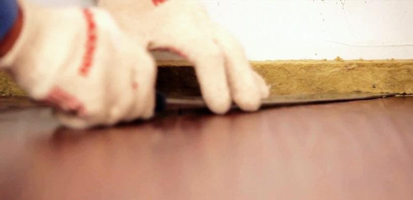 Подрезка выступающих частей виброразвязки