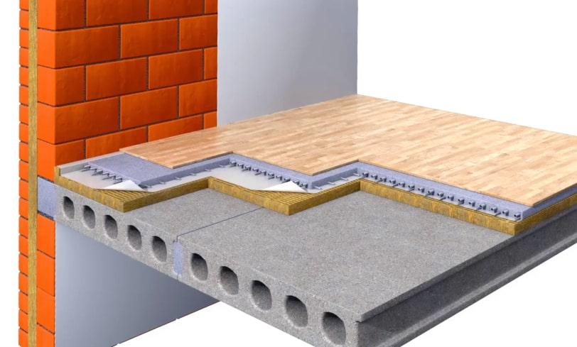 Звукоизоляция пола в квартире с помощью плавающей цементно-песочной стяжки